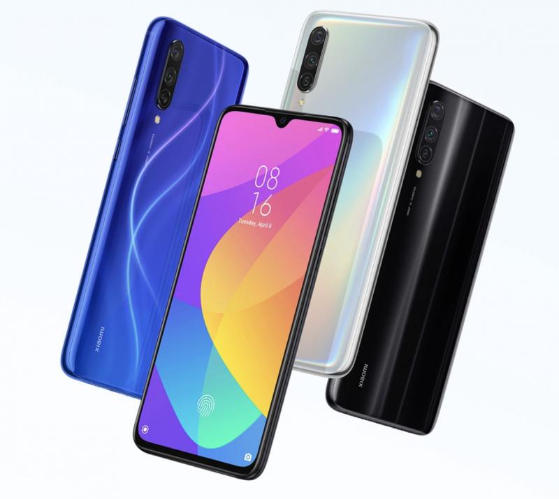 Xiaomi Mi 9 Lite eri väreinä.