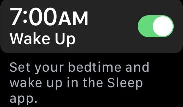 Apple mainitsee jo vielä julkaisemattoman Sleep-sovelluksen osana Hälytykset-sovelluksensa App Store -listausta.