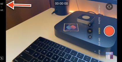 Videokuvauksen tarkkuusasetus Kamera-sovelluksessa. Kuva: Federico Viticci.