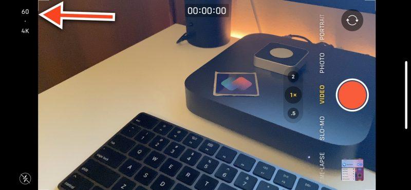 Videokuvauksen tarkkuusasetus on tulossa Kamera-sovellukseen. Kuva: Federico Viticci.