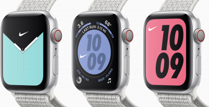 Apple Watch Series 5:n Nike-versioissa on omat Nike-kellotaulunsa.