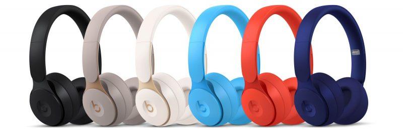Beats Solo Pro -kuulokkeet eri väreissä.