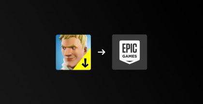 Fortnite Installer muuttui Epic Games -sovellukseksi.