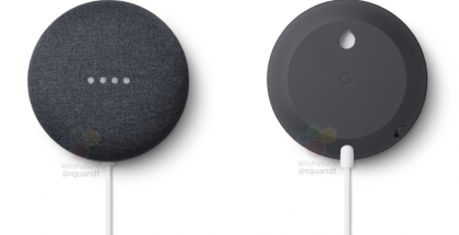 Nest Mini sisältää pohjassaan aukon, jonka avulla laite on helppo asettaa roikkumaan seinälle. Kuva: WinFuture.de.