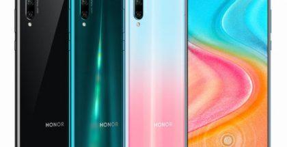 Uusi Kiinassa julkistettu Honor 20 Lite eri väreinä.