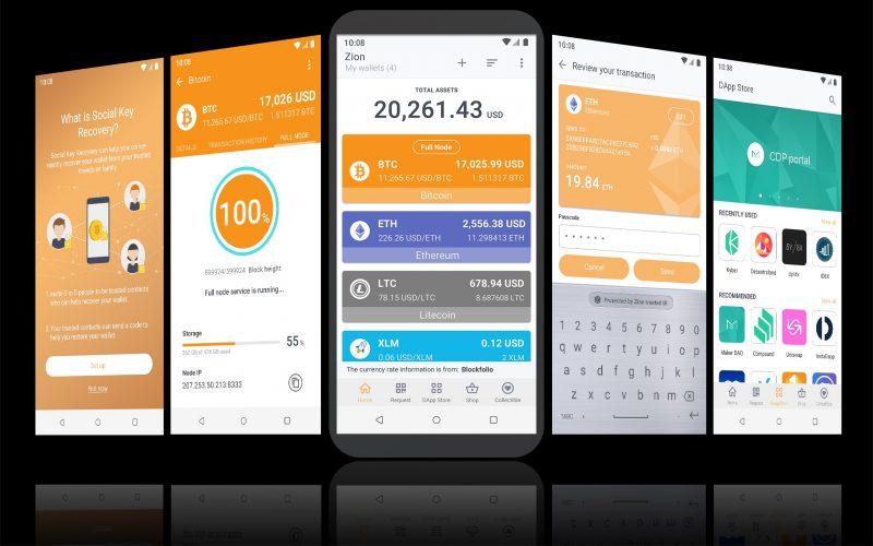 Zion-lompakko toimii kryptovaluuttatoimintojen keskuksena.
