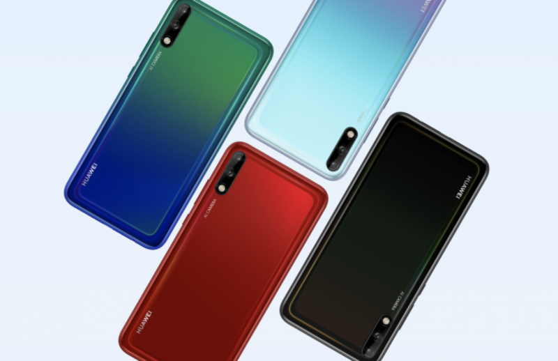 Huawei Enjoy 10:n neljä värivaihtoehtoa.