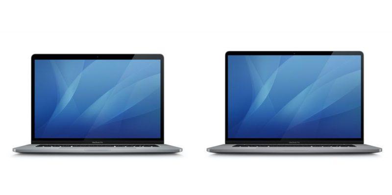 Oikealla mahdollinen uuden 16 tuuman MacBook Pron kuvake, vasemmalla aiempi 15 tuuman MacBook Pro. Kuva: MacGeneration.