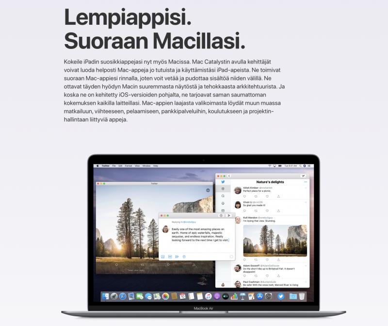 Catalyst lupaa tuoda lempisovellukset iPadista jatkossa myös Macille.