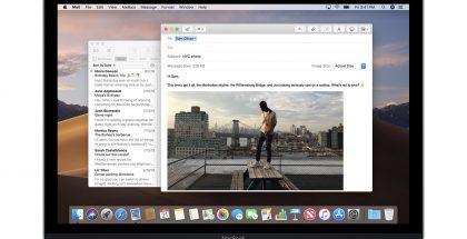 Mail-sähköpostisovellus macOS:ssä.