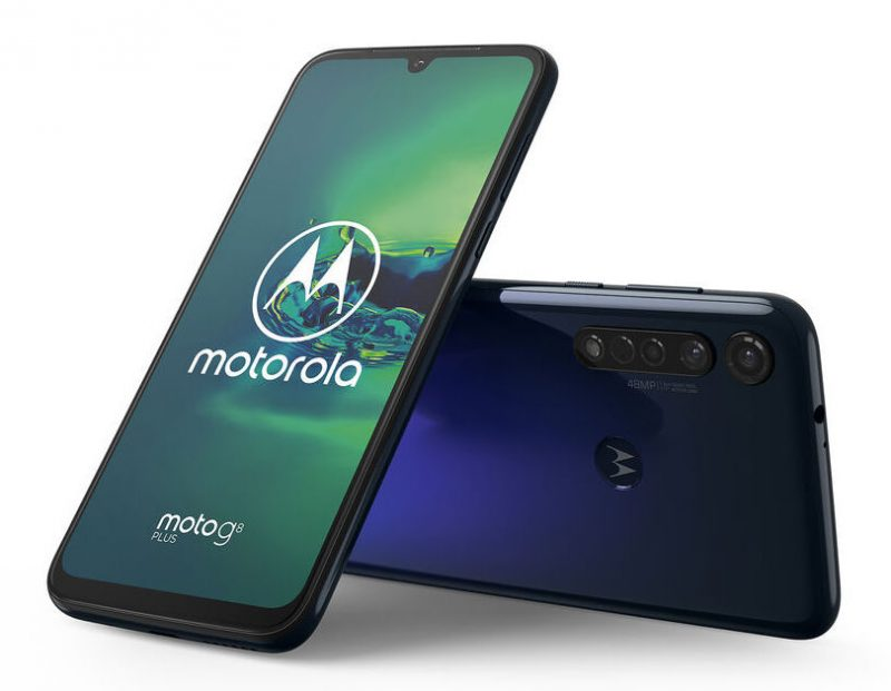 Motorola Moto G8 Plus, Cosmic Blue.
