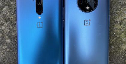Kamera-alueet on muotoiltu OnePlus 7T Prossa ja OnePlus 7T:ssä varsin eri tavoin.