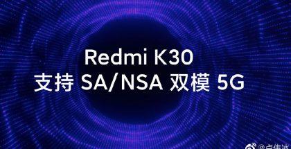 Redmi K30:n 5G-tuki tulee kattamaan sekä NSA- että SA-verkkotyypit.