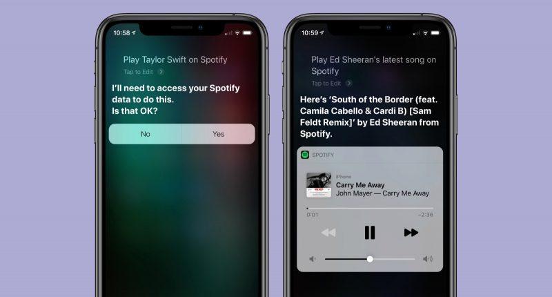 Spotify-päivityksen myötä Siri osaa toimia sen kanssa.