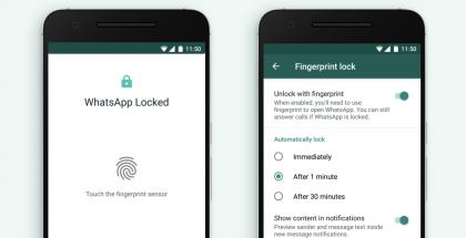 WhatsAppin Android-sovelluksen voi nyt asettaa sormenjäljellä suojatuksi.