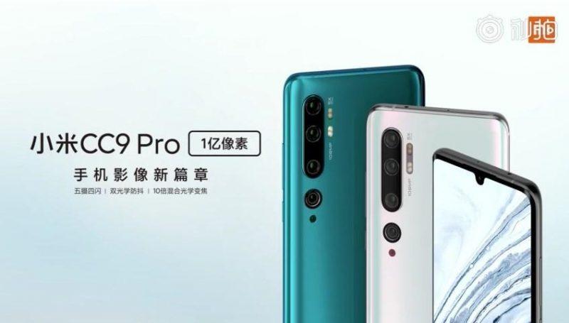 Xiaomi Mi CC9 Pro. Samaa puhelinta odotetaan kansainvälisille markkinoille Mi Note 10 -sarjalaisena.