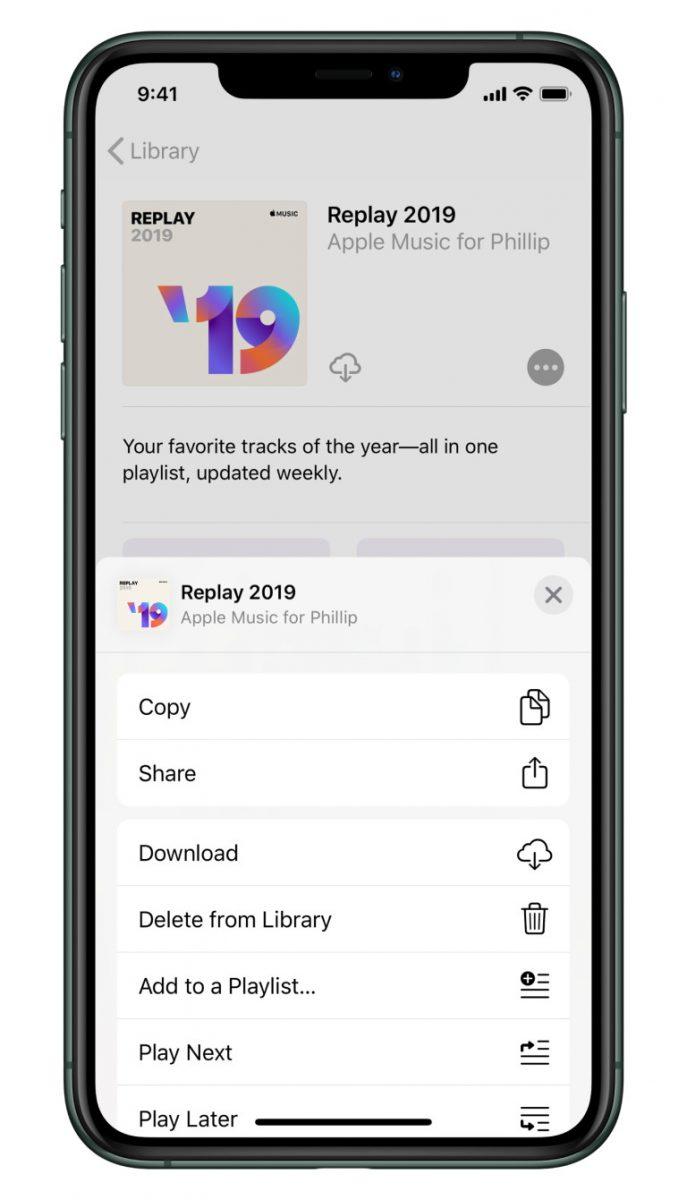Apple Music Replay kokoaa yhteen kuunnelluimman suosikkimusiikkisi.