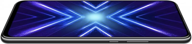 Honor 9X:n 6,59 tuuman näyttö kattaa lähes koko puhelimen etupuolen ilman lovea tai suuria reunuksia.