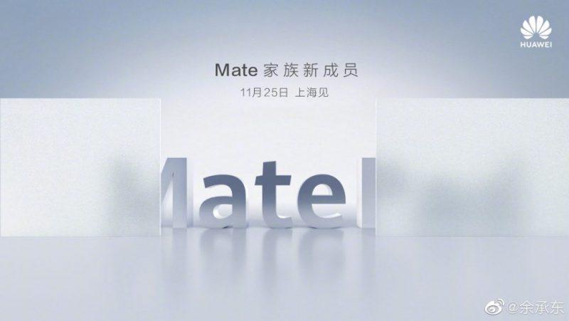 Huawei MatePad-julkistus on ohjelmassa 25. marraskuuta.