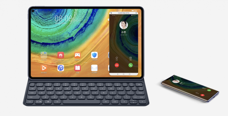 Älypuhelimen ruudun saa MatePad Pron näytölle.