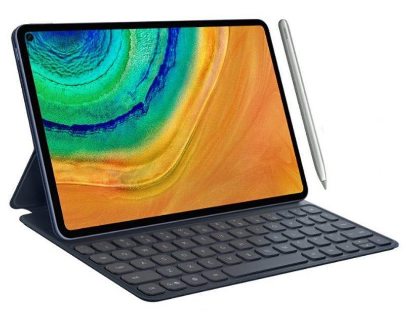Huawei MatePad Pro M-Pen-kynän ja näppäimistön kanssa. Kuva: Evan Blass.