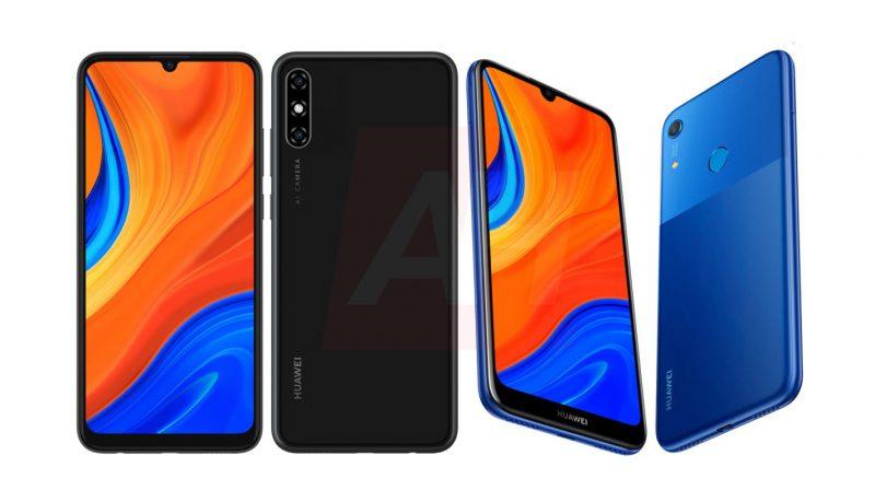 Huawei-älypuhelimet koodinimellä Merida (musta) ja mallinimellä Y6s (sininen). Kuva: Android Headlines.