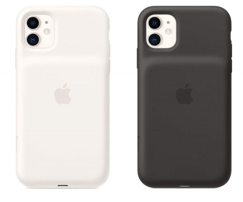 iPhone 11:n Smart Battery Case -värivaihtoehdot ovat valkoinen ja musta.
