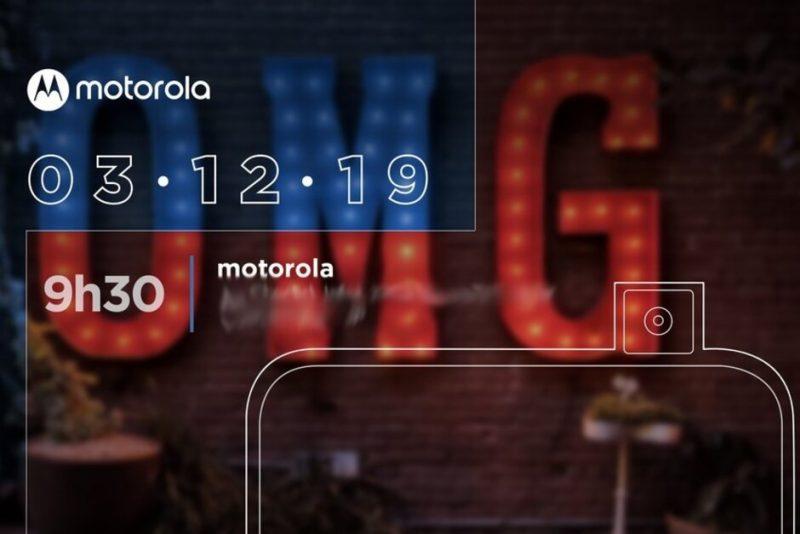 Motorolan ennakkokuva vihjaa tulevasta julkistuksesta 3. joulukuuta.