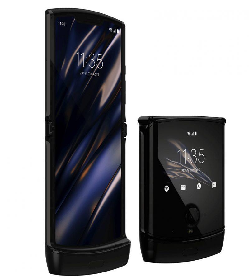 Motorola razrissa on sisällä 6,2 tuuman näyttö ja kannessa 2,7 tuuman näyttö.