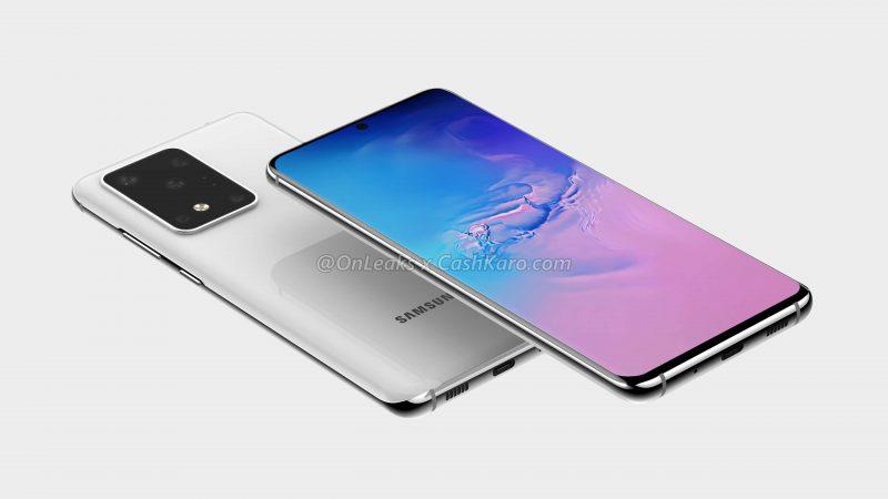 Samsung Galaxy S11+:n mallinnos. Kuva: OnLeaks / CashKaro.