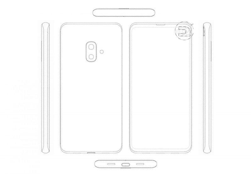 """Samsungin patentoima älypuhelindesign. Voisiko tämä olla huhuttu """"Galaxy S10 Lite""""?"""