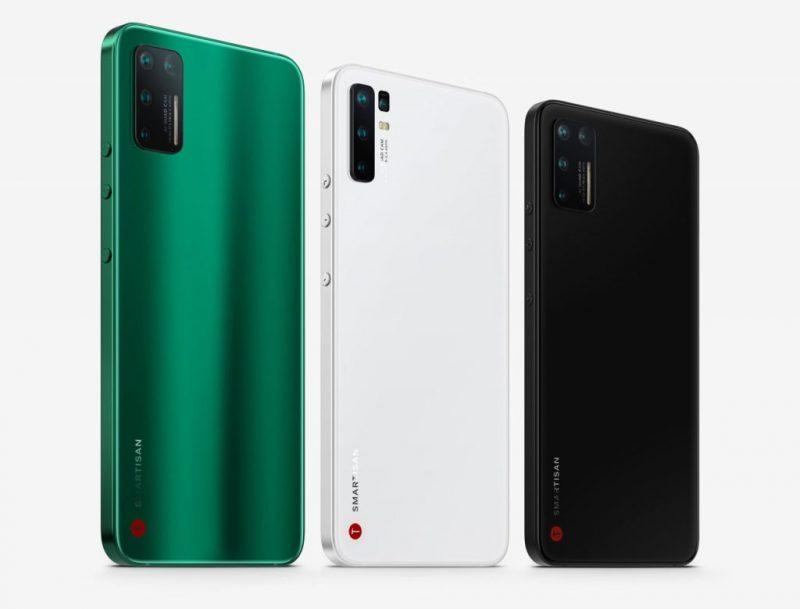 Smartisan Jianguo Pro 3 eri väreissä.