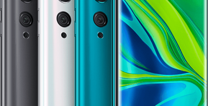 Xiaomin Mi Note 10 -puhelimissa on 6,47 tuuman AMOLED-näyttö ja viisi takakameraa sisältäen 108 megapikselin pääkameran.