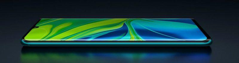 Xiaomin Mi Note 10 -puhelimissa on 6,47 tuuman AMOLED-näyttö.