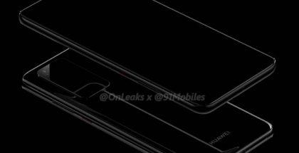 Huawei P40 Pron mallinnos. Kuva: OnLeaks / 91mobiles.