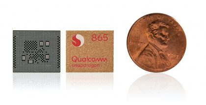 Nykyinen Qualcomm Snapdragon 865.