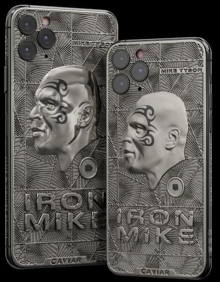 Caviarin Iron Mike -erikoisversiot iPhone 11 Pro Maxista ja iPhone 11 Prosta.