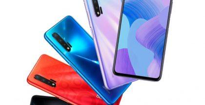 Huawei Nova 6 5G eri väreissä.