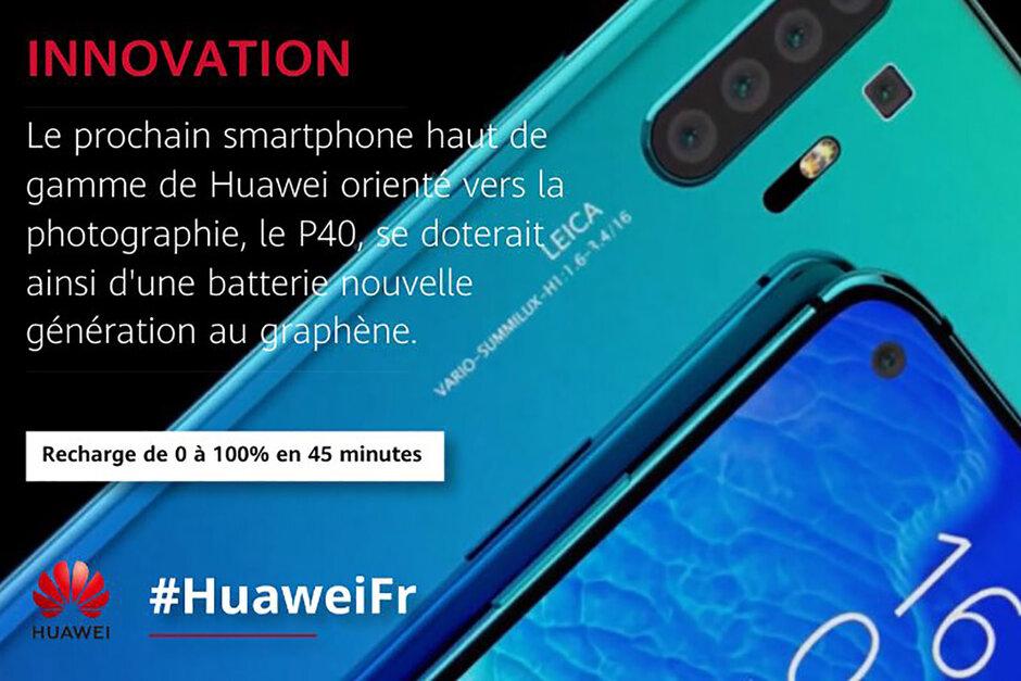 Huawein Ranskan Twitter-tilin julkaisema kuva.