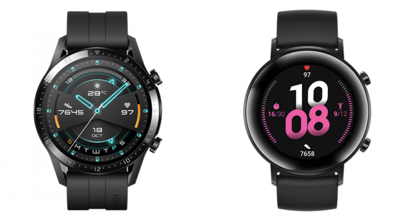 Huawei Watch GT 2, 46 vs. 42 mm.