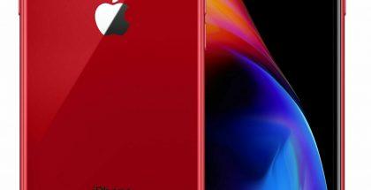 Nykyinen iPhone 8 punaisena.