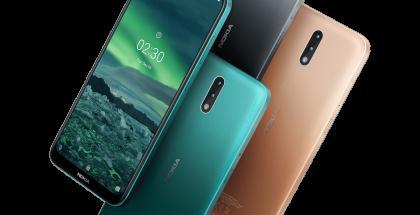 Nokia 2.3:n värivaihtoehdot.