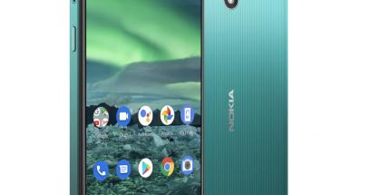 Nokia 2.3:ssa on 6,2 tuuman näyttö.