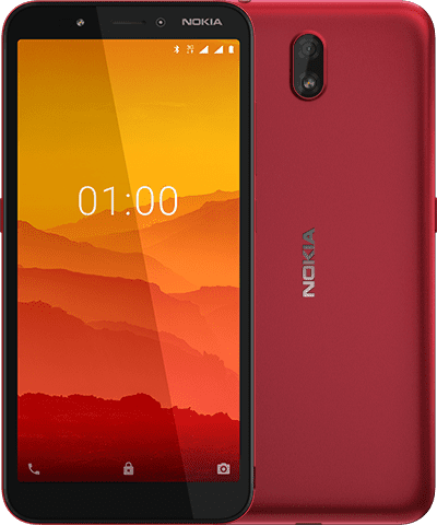 Nokia C1 punaisena.