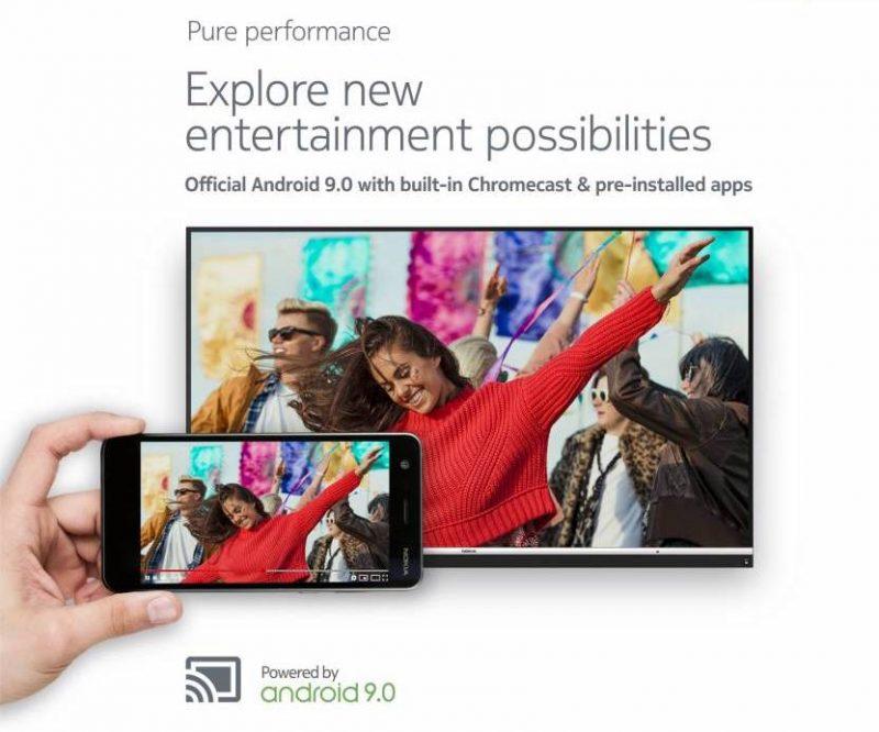 Televisioon voi asentaa uusia sovelluksia ja Chromecast-tuki on sisäänrakennettuna.
