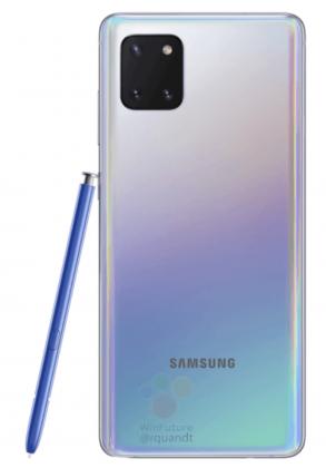 Liukuvärivaihtoehto Samsung Galaxy Note10 Litestä.