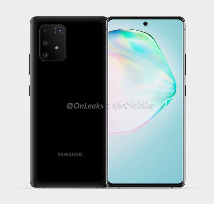 Todennäköinen Samsung Galaxy A91. Kuva: OnLeaks / 91mobiles.