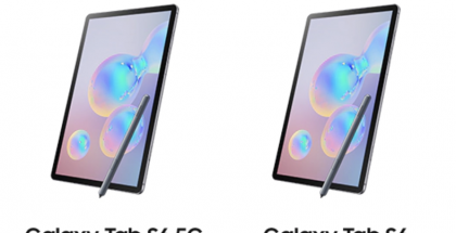 Kuvankaappaus Samsungin mainoksesta Etelä-Koreassa. Galaxy Tab S6 5G on jo listattu perusmallin rinnalla.