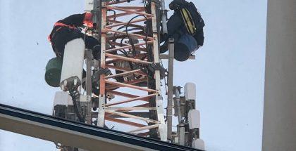 Telian kuva 5G-mastosta.