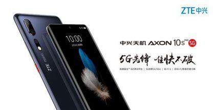 ZTE julkaisi jo kuvan Axon 10s Pro 5G:stä.